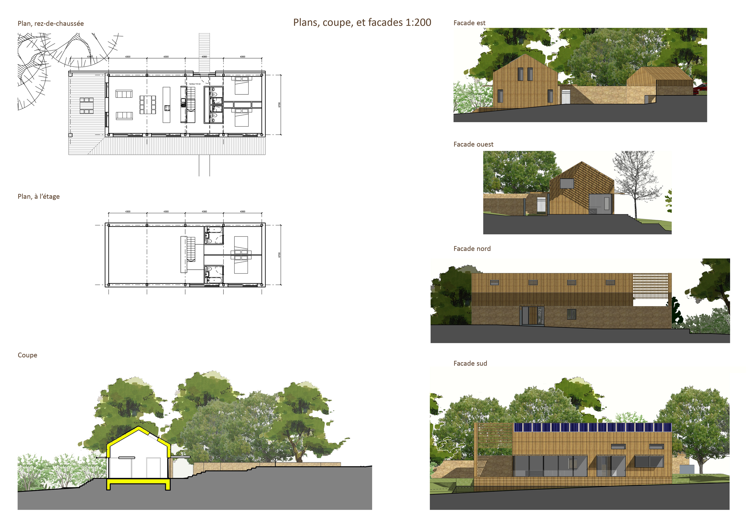 Plan And Elevation Cuisine : Plan maison petite facade before renovations