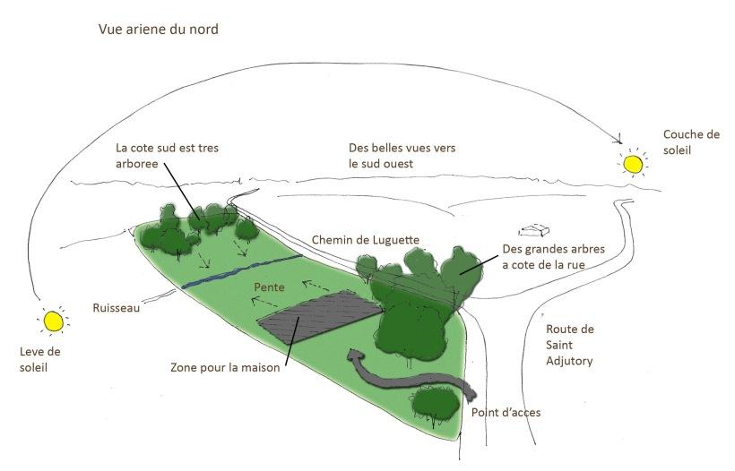 3D aerial site diagram