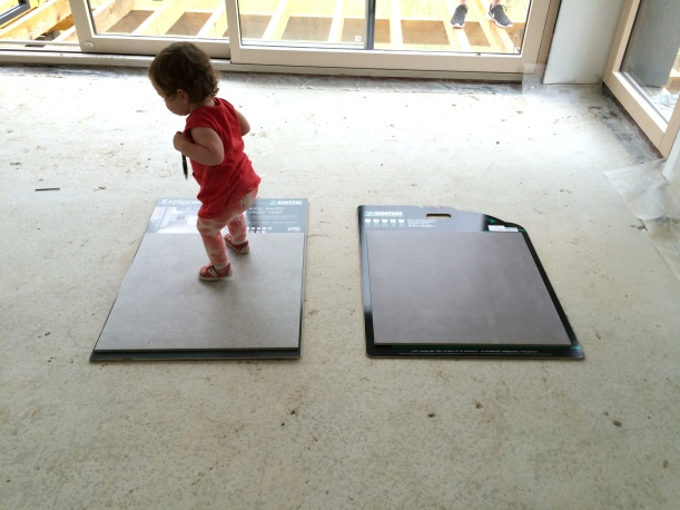 Choosing new floor tiles