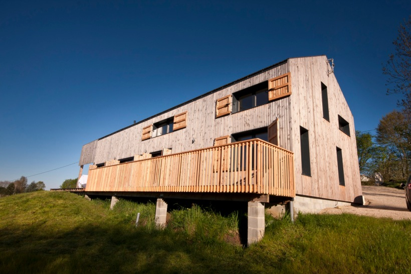 la maison bois, charente, montembouef, architect designed, timber